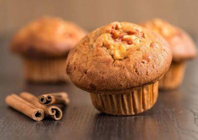 Muffin pere e cannella