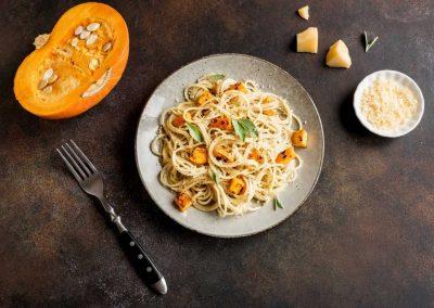 Spaghetti porcini e zucca