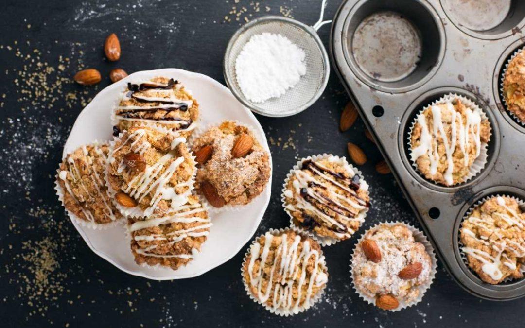 Muffin Noci e Mele profumati all'arancio e cannella